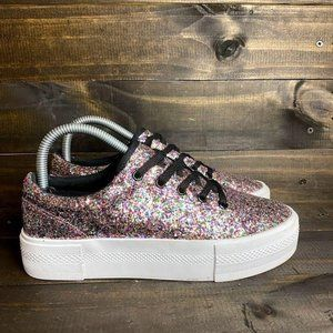 H&M Divided GLITTER SPARKLY Women's SIZE 7 FASHION
